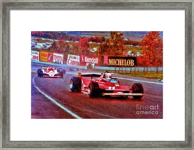 Jody Scheckter Leads John Watson At Watkins Glen Framed Print by Blake Richards