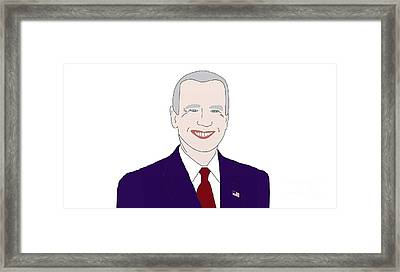 Joe Biden Framed Print by Priscilla Wolfe