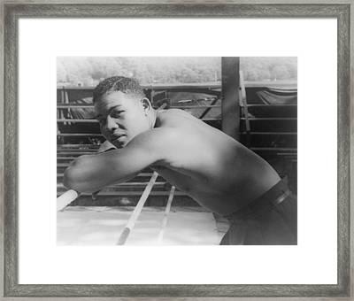 Joe Louis, At Greenwood Lake N.y Framed Print by Everett