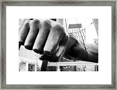 Joe Louis Fist - Detroit Framed Print by Alanna Pfeffer