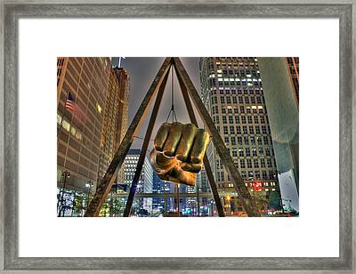 Joe Louis Fist Detroit Mi Framed Print by Nicholas  Grunas