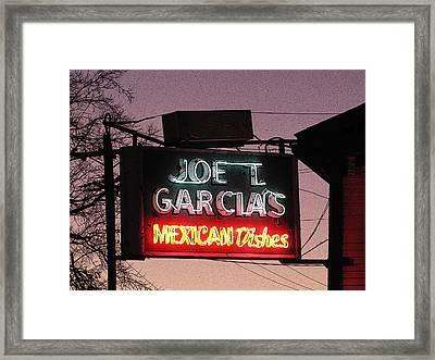Joe T Garcia's Framed Print by Shawn Hughes