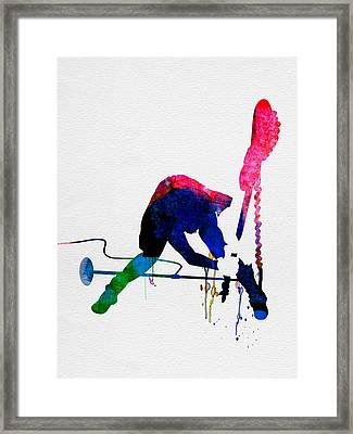 Joe Watercolor Framed Print by Naxart Studio
