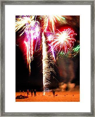Joe's Fireworks Party 1 Framed Print by Charles Harden
