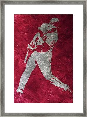 Joey Votto Cincinnati Reds Art Framed Print by Joe Hamilton