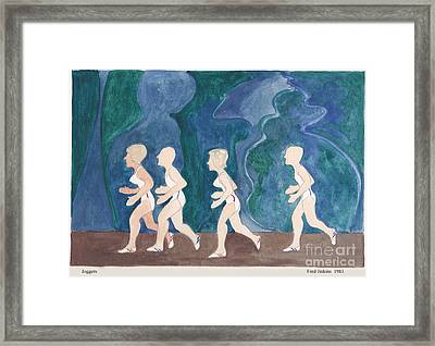 Joggers Framed Print by Fred Jinkins