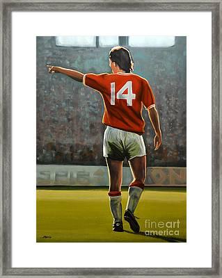 Johan Cruyff Oranje Nr 14 Framed Print by Paul Meijering