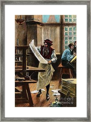 Johann Gutenberg Framed Print by Granger