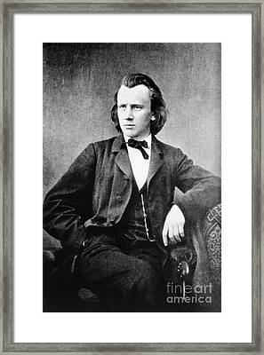 Johannes Brahms, German Composer Framed Print by Omikron