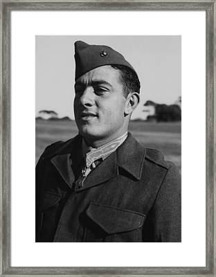 John Basilone Framed Print by War Is Hell Store