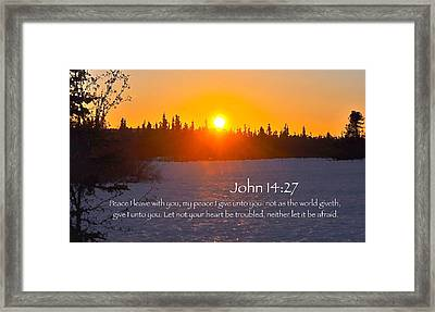 John Chapter 14 Verse 27 Framed Print by Arlene Rhoda Nanouk