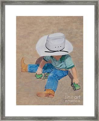John Deere Junior Framed Print by Danielle Smith