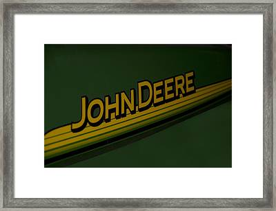 John Deere Signage Decal Framed Print by Thomas Woolworth