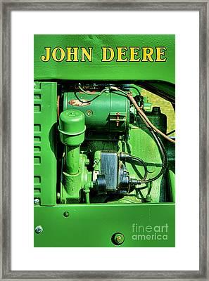 John Deere Tractor Engine Detail Framed Print by Olivier Le Queinec