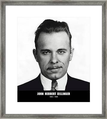 John Dillinger - Bank Robber And Gang Leader Framed Print by Daniel Hagerman