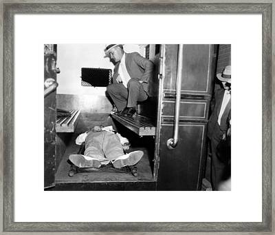 John Dillinger, Dead With Toes Framed Print by Everett