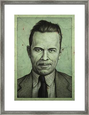 John Dillinger Framed Print by James W Johnson