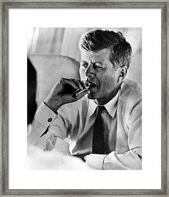 John F. Kennedy, Early 1960s Framed Print by Everett