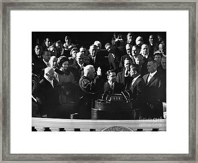 John F. Kennedy Framed Print by Granger