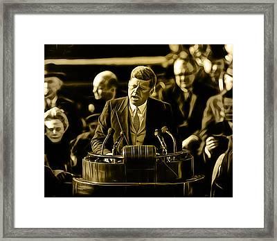 John Fitzgerald Kennedy Framed Print by Marvin Blaine