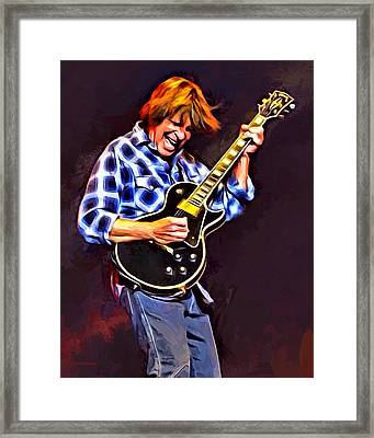 John Fogerty Painting Framed Print by Scott Wallace
