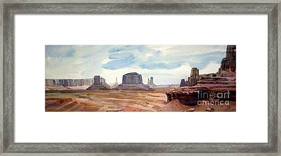 John Ford Point Panorama Framed Print by Donald Maier