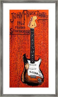 John Frusciante 1962 Stratocaster Framed Print by Karl Haglund