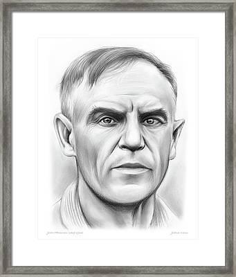 John Heisman Framed Print by Greg Joens