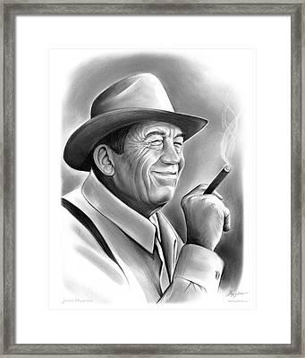 John Huston Framed Print by Greg Joens