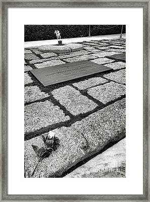 John Kennedy Gravesite Framed Print by Olivier Le Queinec
