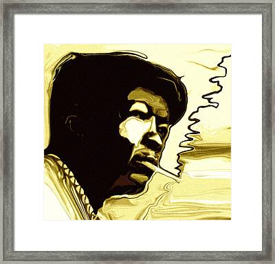 John Lee Hooker Framed Print by Jeff DOttavio