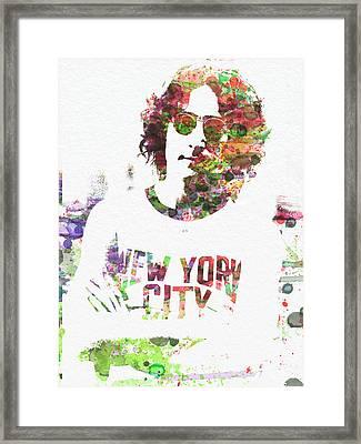 John Lennon 2 Framed Print by Naxart Studio