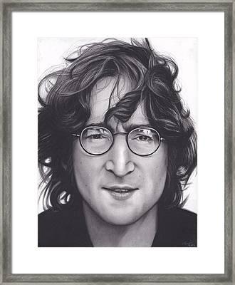 John Lennon Framed Print by Brittni DeWeese