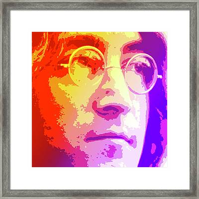 John Lennon Framed Print by Greg Joens