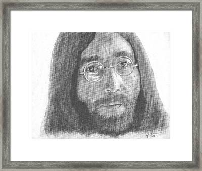 John Lennon Framed Print by Jeff Ridlen