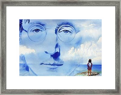 John Lennon Framed Print by Ken Meyer jr