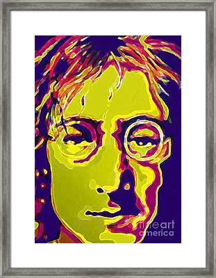 John Lennon The Beatles  Framed Print by Margaret Juul