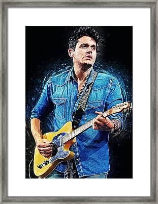 John Mayer Framed Print by Taylan Soyturk