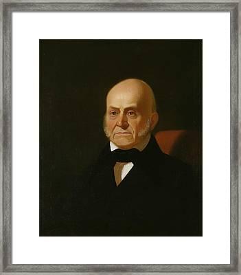John Quincy Adams Framed Print by George Caleb Bingham