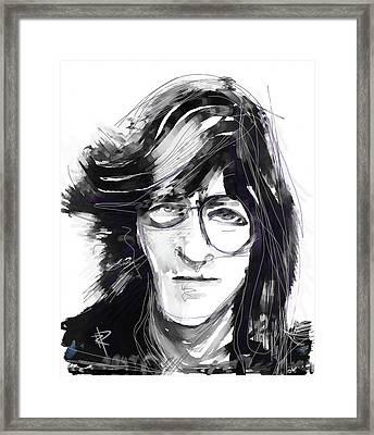 John Framed Print by Russell Pierce