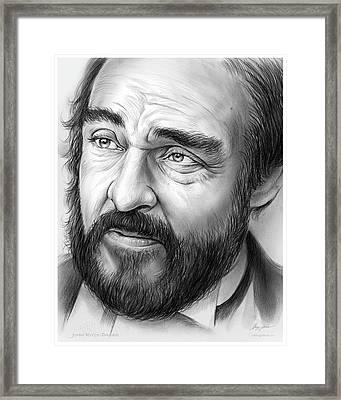 John Rys-davies Framed Print by Greg Joens