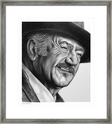 John Wayne Framed Print by Greg Joens