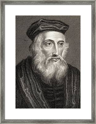 John Wycliffe, Also Spelled Wycliff Framed Print by Vintage Design Pics