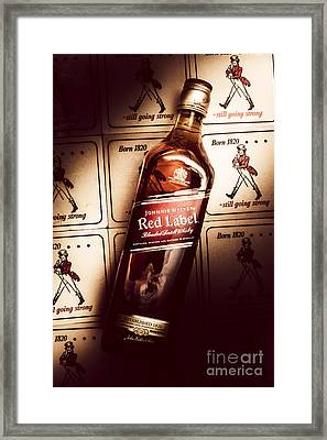 Johnnie Walker Red Label Blended Whisky  Framed Print by Jorgo Photography - Wall Art Gallery