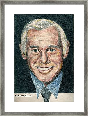Johnny Carson Framed Print by Michael Lewis