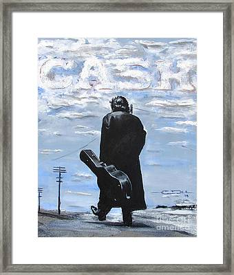 Johnny Cash - Going To Jackson Framed Print by Eric Dee