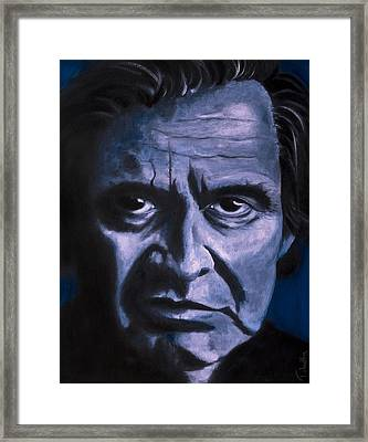 Johnny Cash Framed Print by Tabetha Landt-Hastings