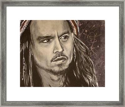 Johnny Depp Framed Print by Eric Dee