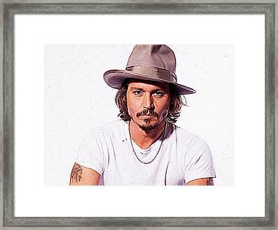 Johnny Depp Framed Print by Iguanna Espinosa