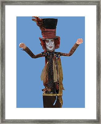 Johnny In The Box Framed Print by Cathi Doherty